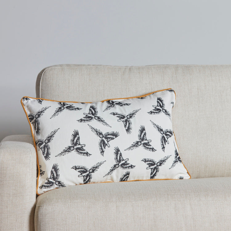Organic Lussio Parrot Printed Cushion Cover