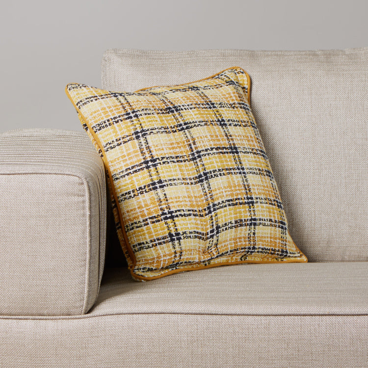 Organic Tweed Check Cushion Cover