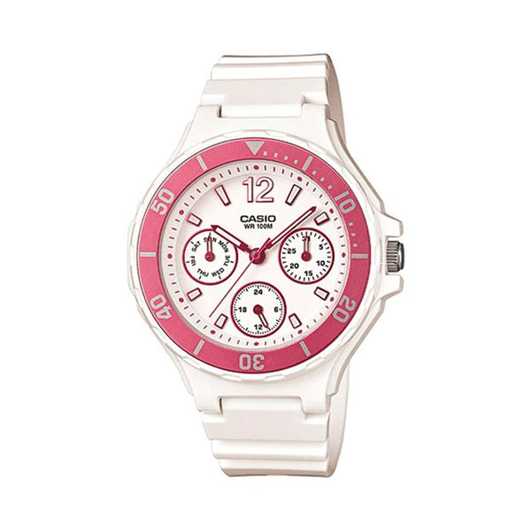 Casio Analog White Watch, LRW-250H-4AVDF
