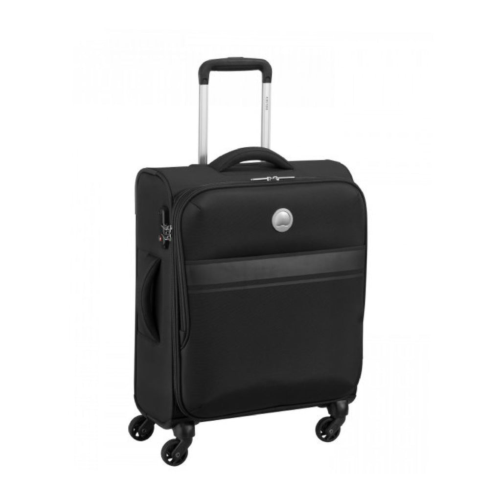 Delsey Oujda 4Wheel Soft Trolley 55cm Black
