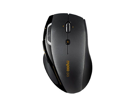 RAPOO MOUSE WIRELESS 5GHZ COMFORT LASER 7800P - BLACK NEW
