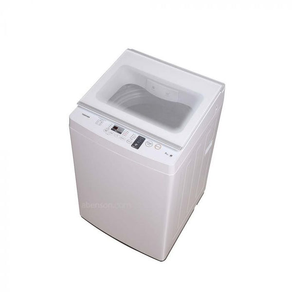 Toshiba WM 8kg, Great Waves, Glass Lid, White
