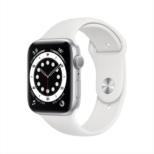 Apple Watch Series 6 GPS MG283AE/A 40mm Silver Aluminium Case with Sport Band White
