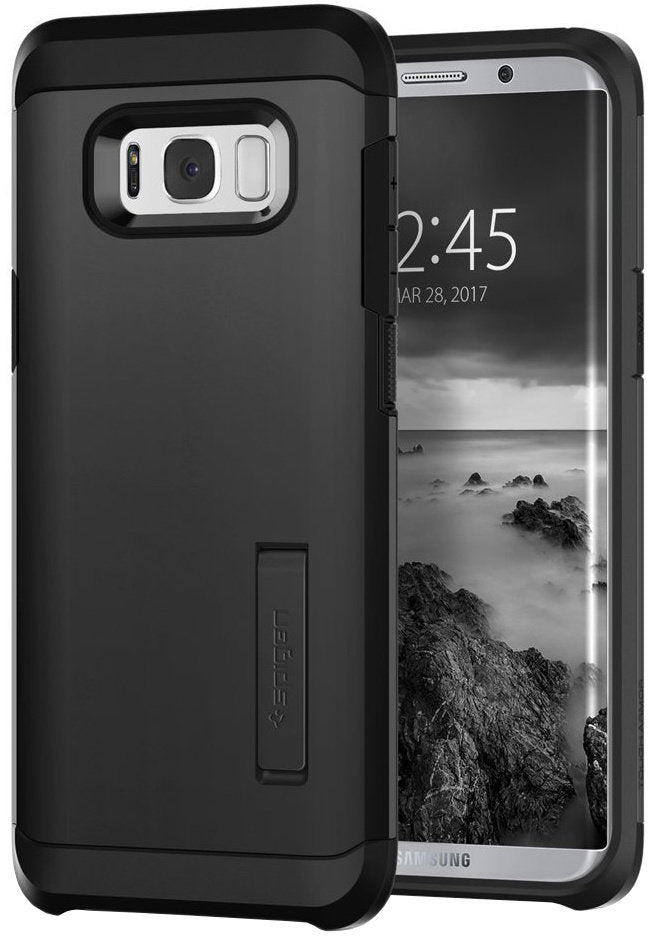Spigen Galaxy S8 Large Case Tough Armor Black (SF coated)