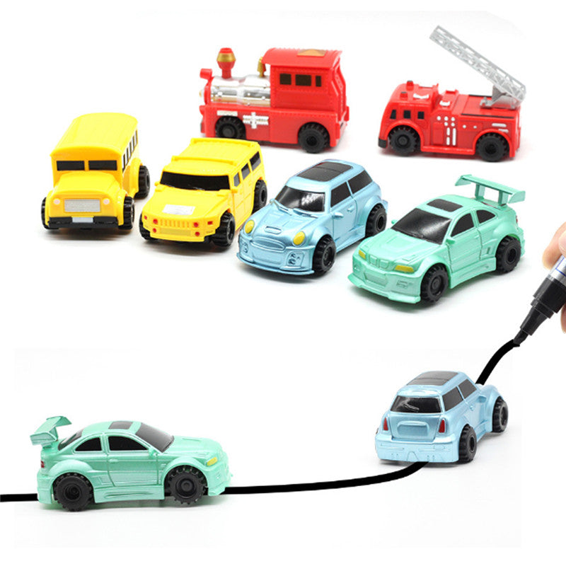 1PCS Magic Truck Inductive Car Construction Vehicles For Kids Children Educational Gift Toys