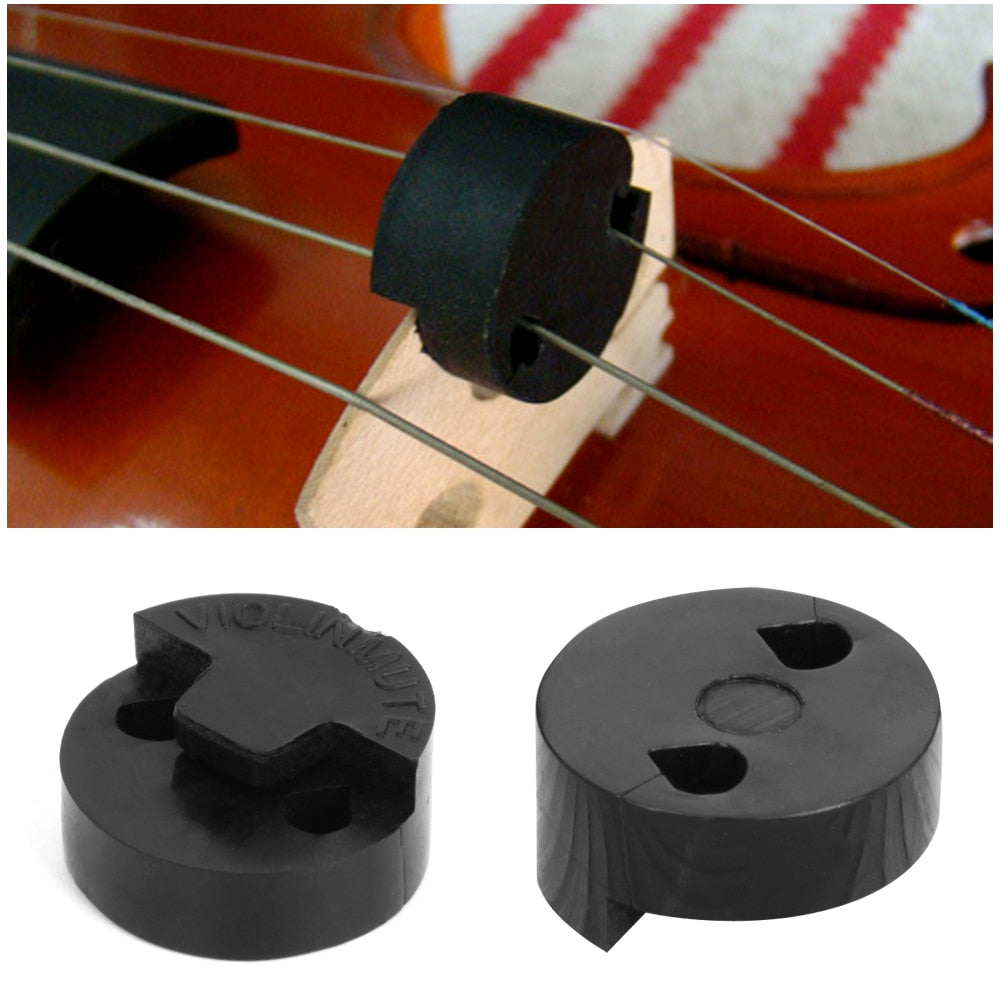 1Pc Acoustic Rubber Violin Mute Fiddle Silencer For Violin Sourdine Tools Black
