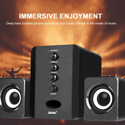SADA USB Wired Speakers Computer Speakers Player Subwoofer Sound Box For PC F2A6