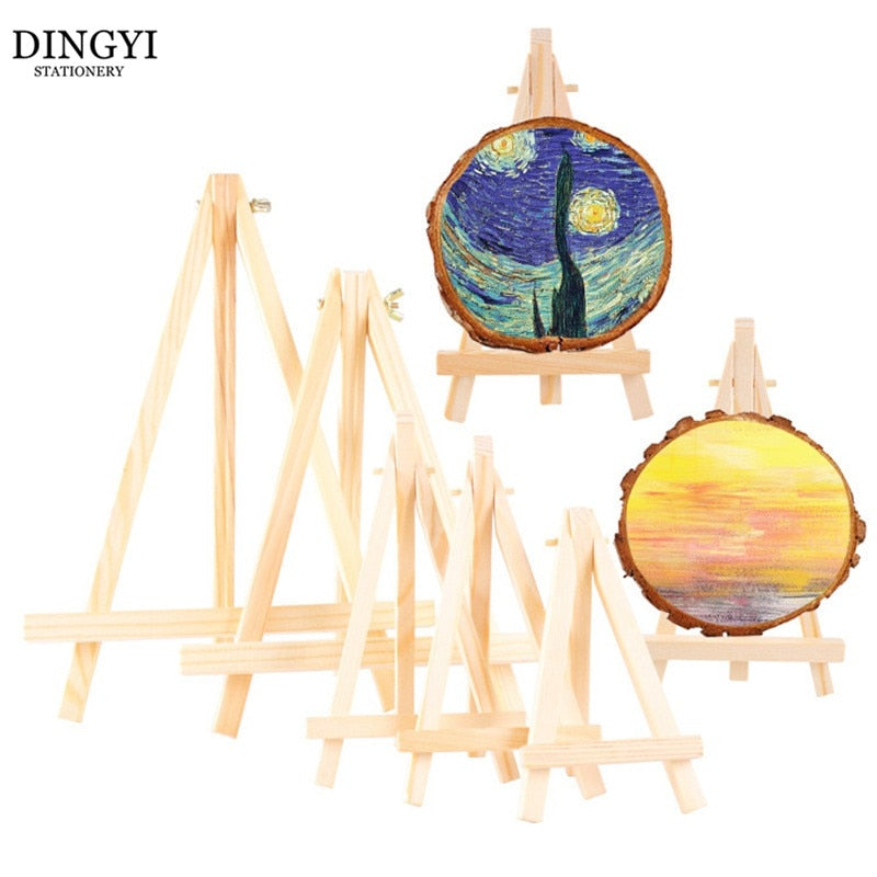1pc Mini Easel Frame Tripod Display Wooden Children Oil Paint Painting Stand Wood Craft Phone Wedding Party Card Holder