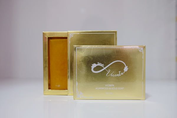 VICENTA AGARWOOD & GOLD SOAP 100G