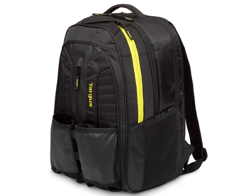 "Targus Work & Play Rackets 15.6"" Laptop Backpack Black / Yellow"
