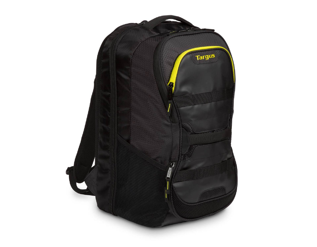 "Targus Work & Play Fitness 15.6"" Laptop Backpack Black / Yellow"