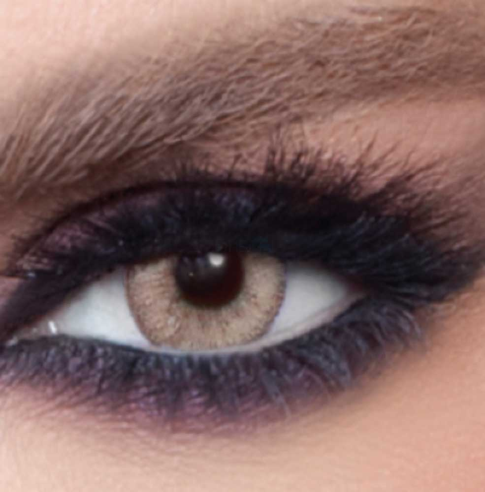 Bella Caramel Grey Colored Contact Lenses
