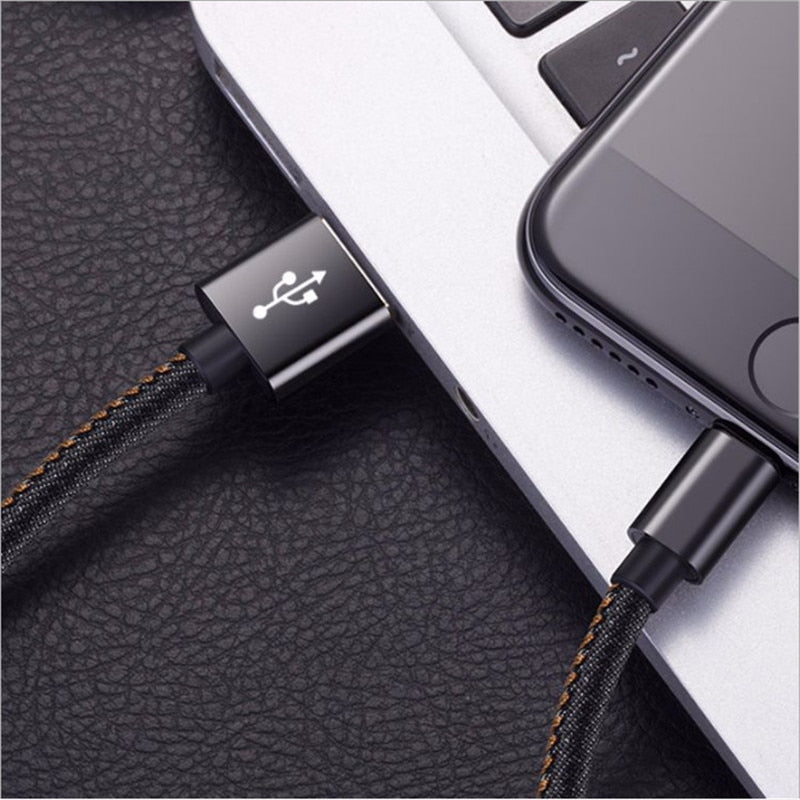20pcs Micro USB Cable 2.4A Nylon Fast Charge USB Data Cable for Samsung Xiaomi LG Tablet Android Mobile Phone USB Charging Cord