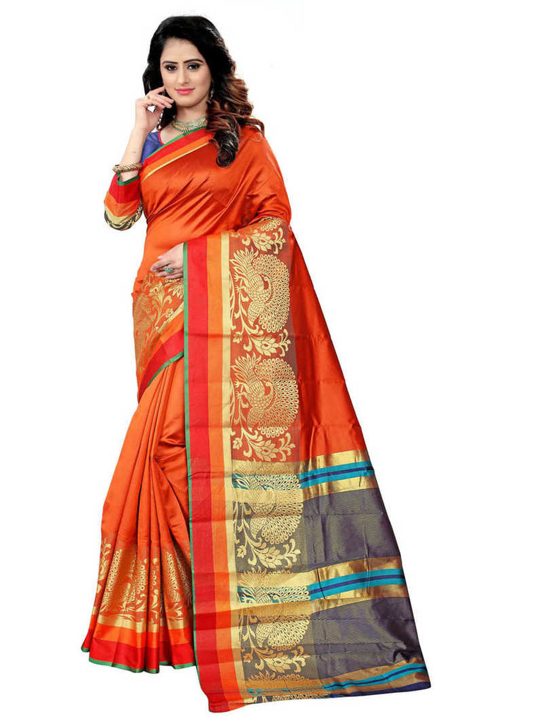 Greeny - Silk Banarasi Saree With Blouse
