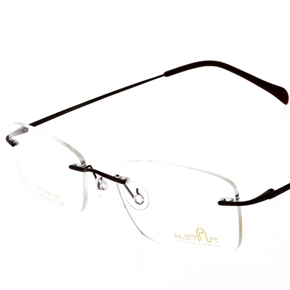 Eye Wear - N.STAR N1258 - RIM LESS WITH UNBREAKABLE LENS