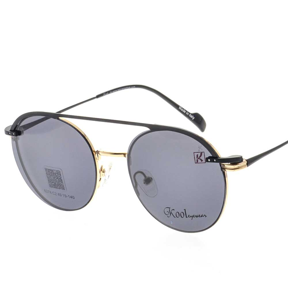 KOOL EYEWEAR S06278 Round Clip on Sunglasses