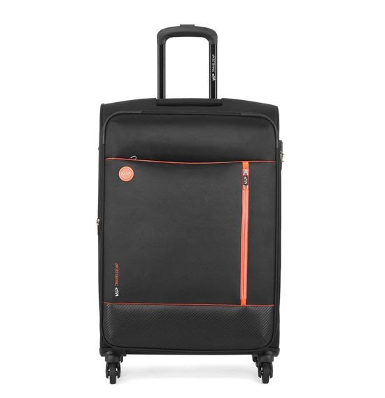 VIP Parker 69cm، 4 Wheel Medium Size Trolley Black، PARKER69BL