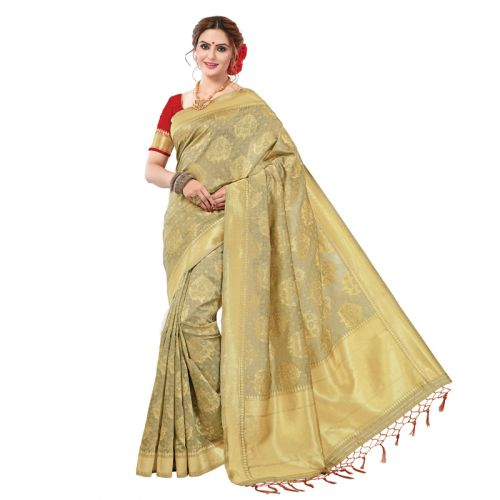 Salem Banarasi Silk Saree With Blouse Piece