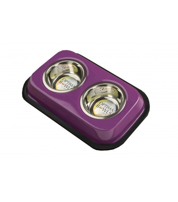 OB Twin Feeders with 2 Bowls Purple 0.5 باينت
