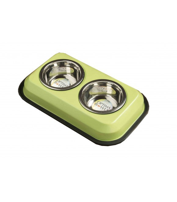OB Twin Feeders with 2 Bowls Green 1 باينت