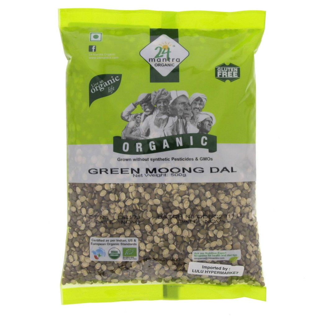 24 Mantra Organic Green Moong Dal 500g