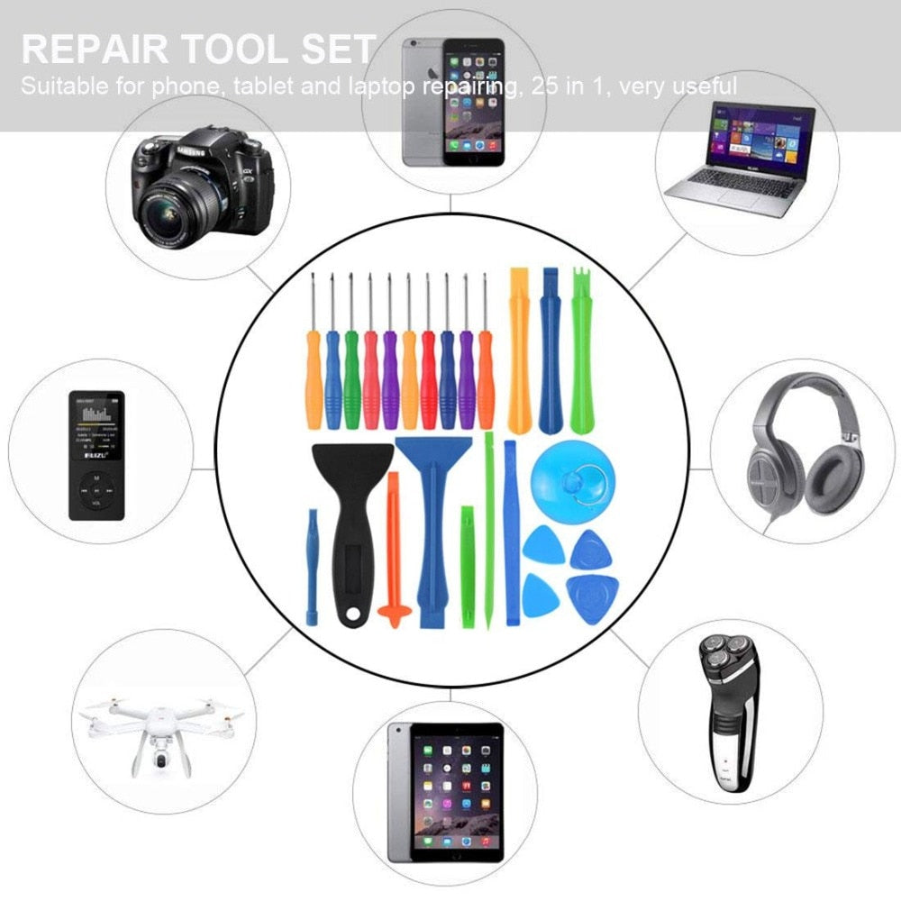Hyx Tool Kits JF-8161 8 in 1 Battery Repair Tool Set for iPhone 6 Plus