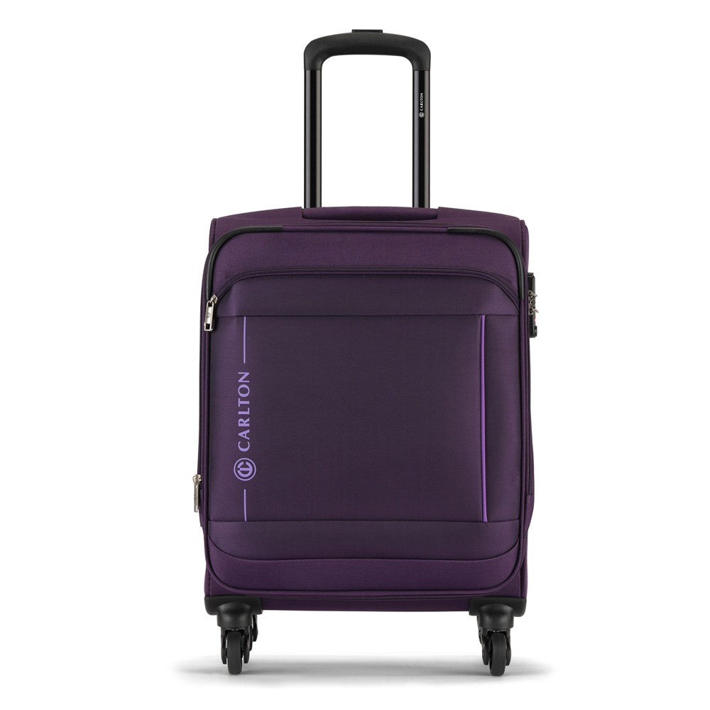 Carlton Dover 78cm, 4 Wheel Spinner Large Size Trolley Soft Case, DOVER78PU, Purple