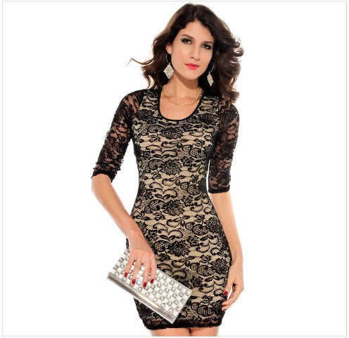 Free Size Black Short Dress For Women