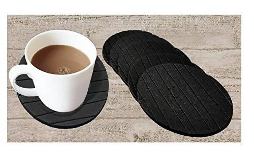 RSTC Tea Coaster Pack of 6 PC (Black)