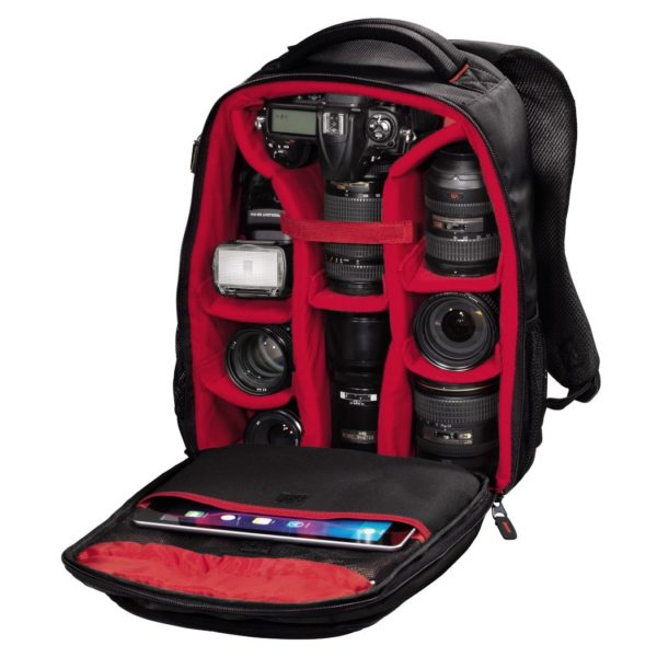 Hama 126682 Miami 190 Camera Backpack Black/Red