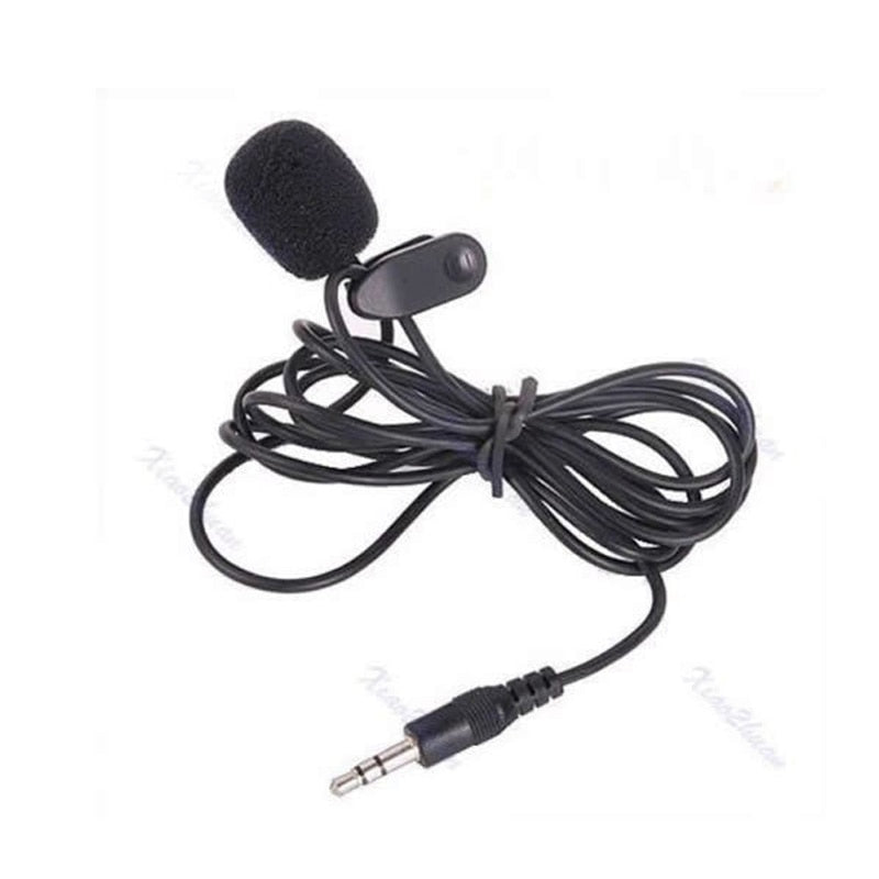 3.5mm AUX Mini Mic Hands Free Clip on Mic Studio Speech Lapel Recording Pen Guide For IOS Android Mobile Phone