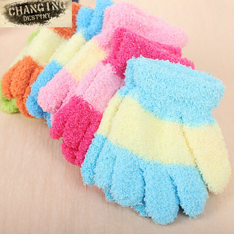 3 -6 Years Old Children's Gloves Autumn Winter Must Thickened Towel Keep Warm boy girl Magic Gloves Soft Wind-proof Mittens