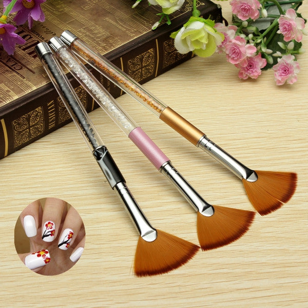 3 Colors Nail Art Drawing Brush Painting UV Gel Manicure Pen