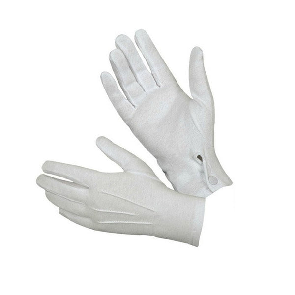 #30 1 Pair Formal Glove White Gloves Tuxedo Honor Guard Parade Santa Men Inspection Mittens Full Finger Gloves Hands Protector