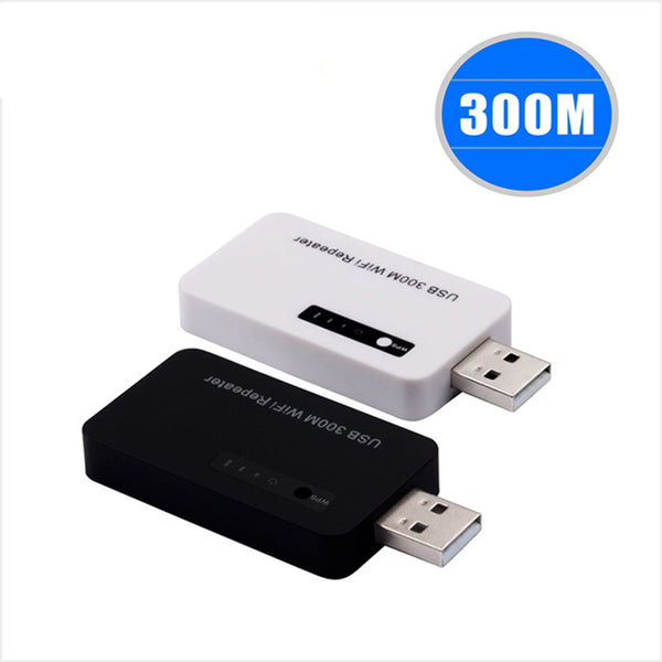 300M USB مكرر لاسلكي WiFi Mini Expander Router Signal Range Extend Amplifier عبر WPS