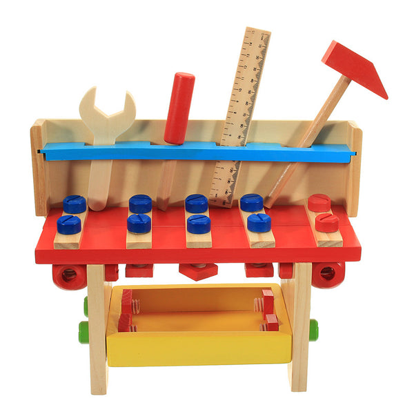 30PCS DIY Wooden Classic Simulation Repair Tool Table Set Puzzle For Kids Children Novelties Toys
