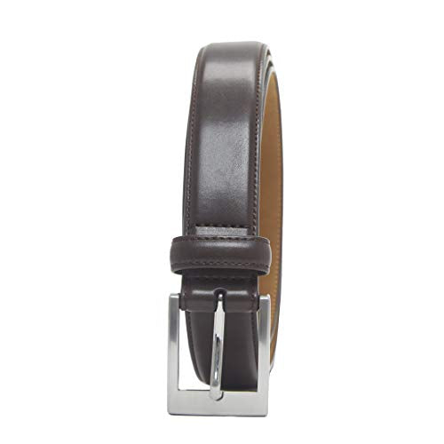 Amazon Essentials Men's Classic Dress Belt, Dark Brown, 40