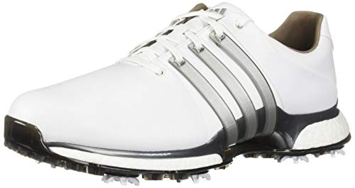 adidas Men's TOUR360 XT Golf Shoe, FTWR White/Silver Metallic/Dark Silver/Metallic, 10.5 W US