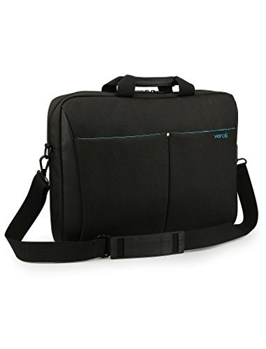 "Laptop Bag 15.6 inches Black - Veroli Stylish Women Shoulder laptops Messenger Carry case - 15"" and 14"" inch Bags for Ladies and Girls - Womens Computer Cases Briefcase Waterproof with Strap"