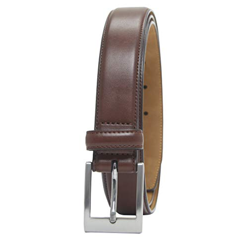 Amazon Essentials Men's Classic Dress Belt, tan, 40