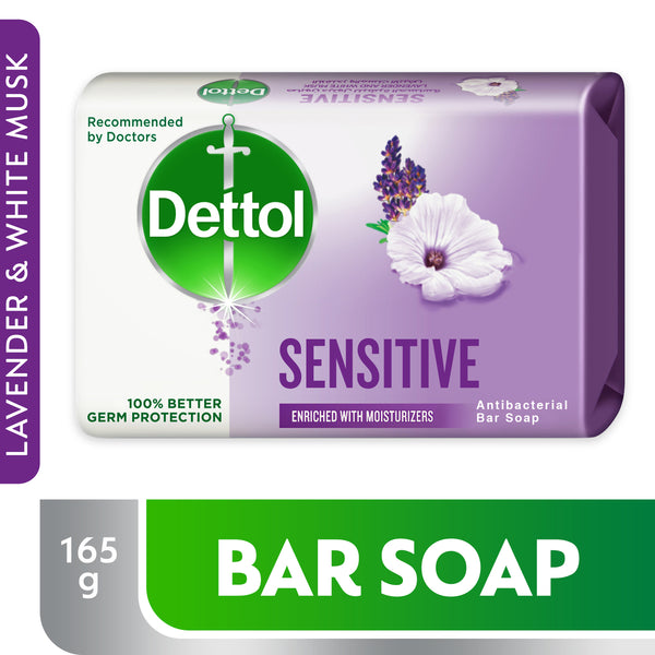 Dettol Sensitive Anti-Bacterial Bar Soap 165g