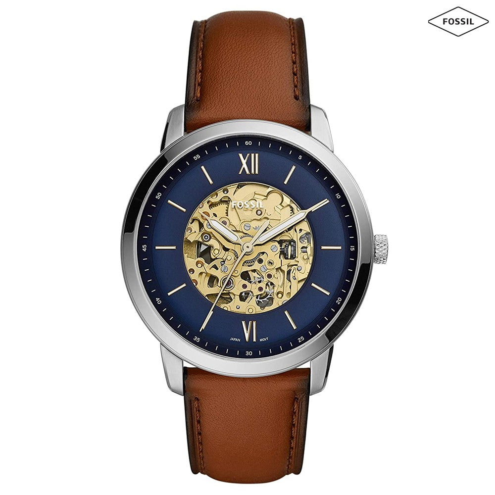 Fossil ME3160 Neutra Analog Blue Dial Mens Watch