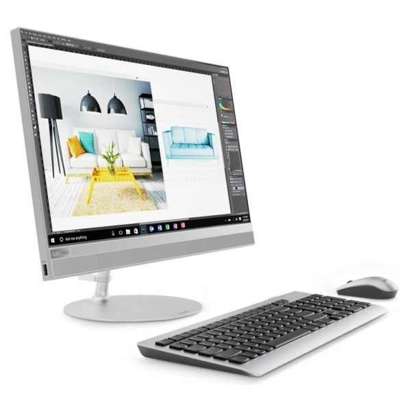 Lenovo IdeaCentre AIO 520 Desktop – Core i3 2.3GHz 4GB 1TB Shared Win10 21.5inch FHD Silver