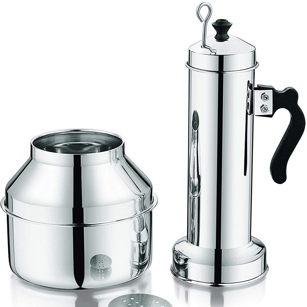 Royalford Stainless Steel Puttu Maker with Pot and Handle, Multi-Colour, RF9708