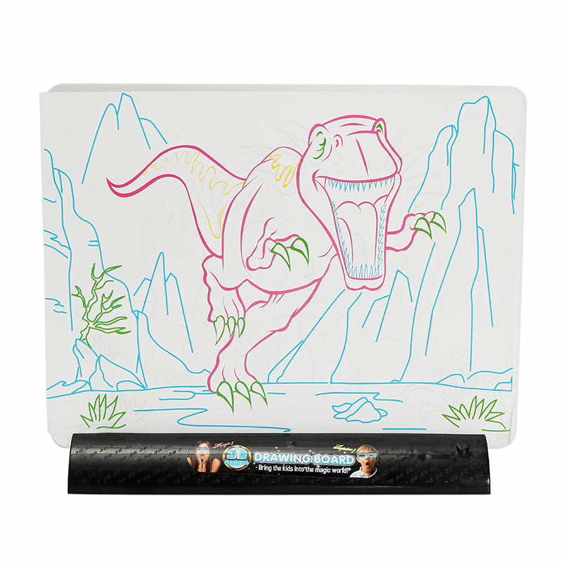 3D Magic Flashing Drawing Board Dinosaur Game For Kids Children Educational Christmas Gift Toys