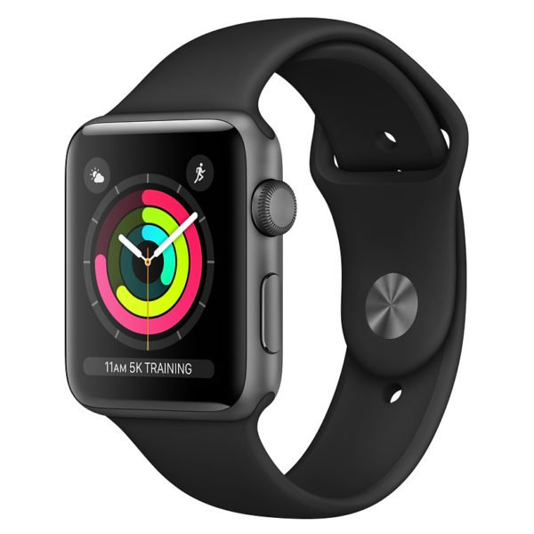 Apple Series 3 MTF32LLA 42MM Space Grey Aluminium W/Black Sports Band