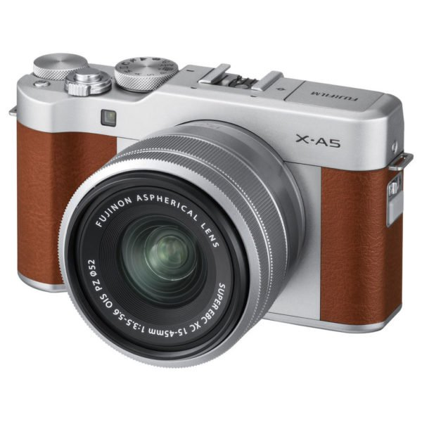 Fujifilm X-A5 Digital Mirrorless Camera Brown With XC 15-45mm f/3.5-5.6 OIS PZ Lens