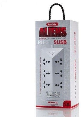Remax Aliens 6 Outlets Anty-Static Power Strip Ru-S4 5Usb