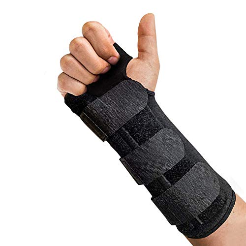 LoveSelfy Breathable Wrist Support Brace, Adjustable Lightweight Splint with Cushioned Pads for Extra Comfort Ideal for Carpal Tunnel Arthritis NHS Tendonitis Fracture Sprain RSI