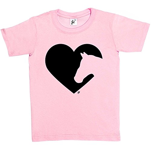 تي شيرت Love Heart Horses Silhouette Kids Boys / Girls